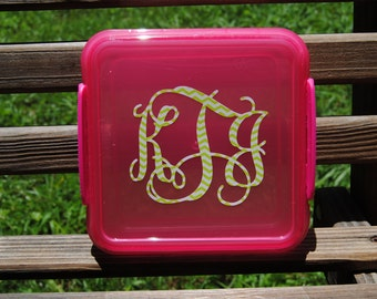Personalized Kids Lunch Box Sandwich Keeper Perfect Birthday Party Favors Back To School Teacer Gifts Monogrammed