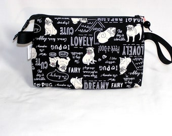 Peek-a-Boo Pugs Tall Mia Bag - Premium Fabric