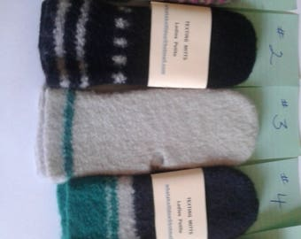 Petite ladies handwarmers  & texting Mitts new knit gift you choose via number in pics ready to ship