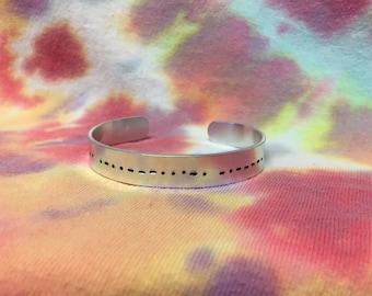 Morse Code Bracelet.Secret Message Bracelet.Morse Code Jewelry.Custom Morse Code.Morse Code Gift.Secret Message Jewelry