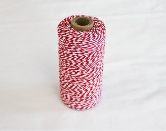 Spool of Red and White Bakers Twine - 240 yards
