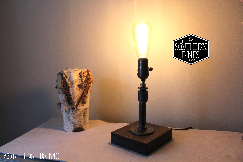 Steampunk Table Lamp | Industrial Lighting | Rustic Lighting | Desk Lamp |  Vintage Light | Bedside Lamp| Edison Lamp | Reading Light | Pipe