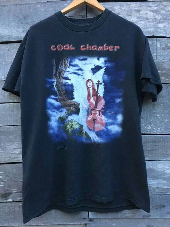 Vintage blue 90s rare shirt by grape coal chamber promo rTwrqxgR