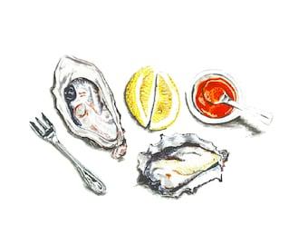 Oysters Sketchbook Series Marker Illustration
