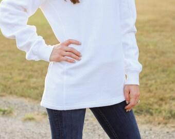 Monogrammed Quarter Zip Sweatshirt | Monogram Sweatshirt | Monogrammed Pullover Sweatshirt | Monogram Half Zip | Personalized Gift for Her