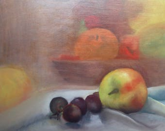 Apples and grapes by Millie Mollie Mandrake