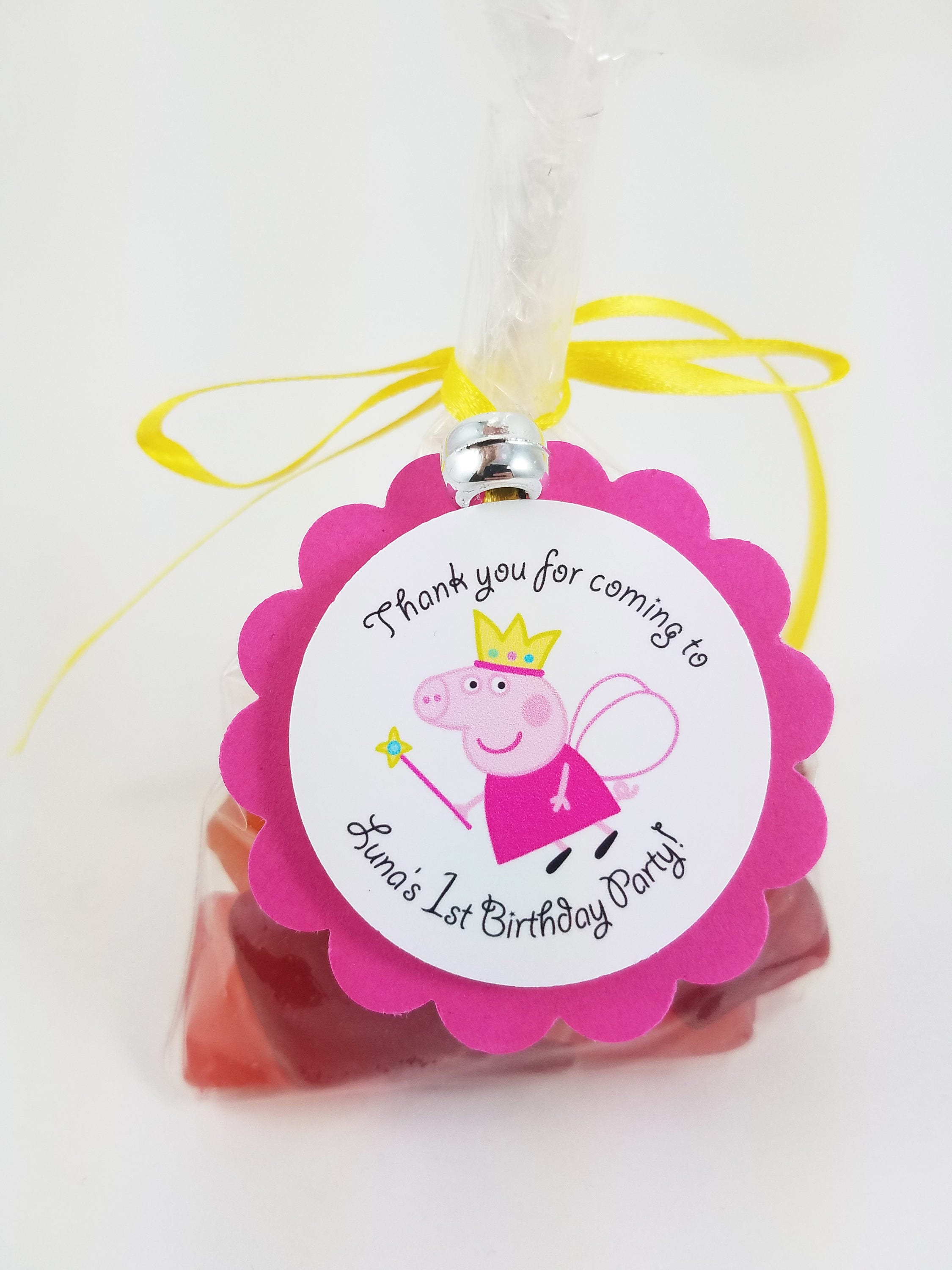 Personalized Fairy Peppa Pig 2 Pink Scallop Birthday
