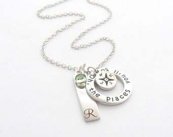 Graduation Necklace-OH the Places You'll Go -Compass Graduation Gift-Gifts for Graduates-High school graduation Jewelry- College Graduation