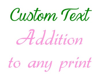 Custom Text Addition to any listing