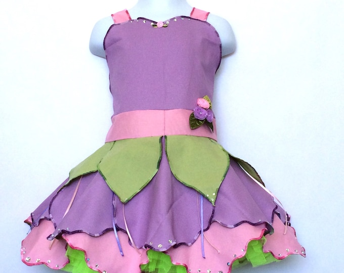 Purple and Pink Blossom Fairy Dress