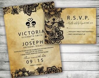 DIY Rustic Sunflower Wedding Invitation Template Printable - Halloween wedding invitations templates
