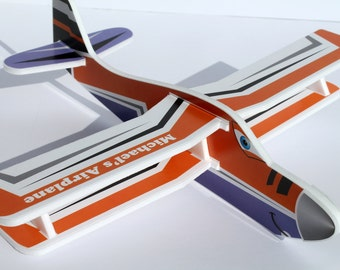 Personalized plane etsy personalised air plane present personalized toy birthday gifts custom gift for boy foam airplanes flying airplanes negle Gallery