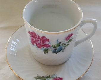 Vintage Chinese Dematas Cup and Saucer Set