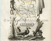1823 Perrot Map of INDRE,...