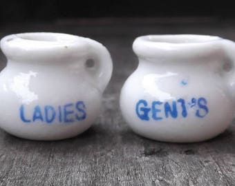Vintage Carnival Game Prize - Miniature Chamber Pot - Your Choice - Ladies or Gent's
