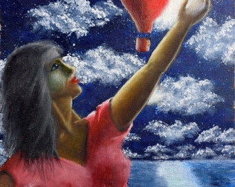 Dreamy Night (print from original painting)