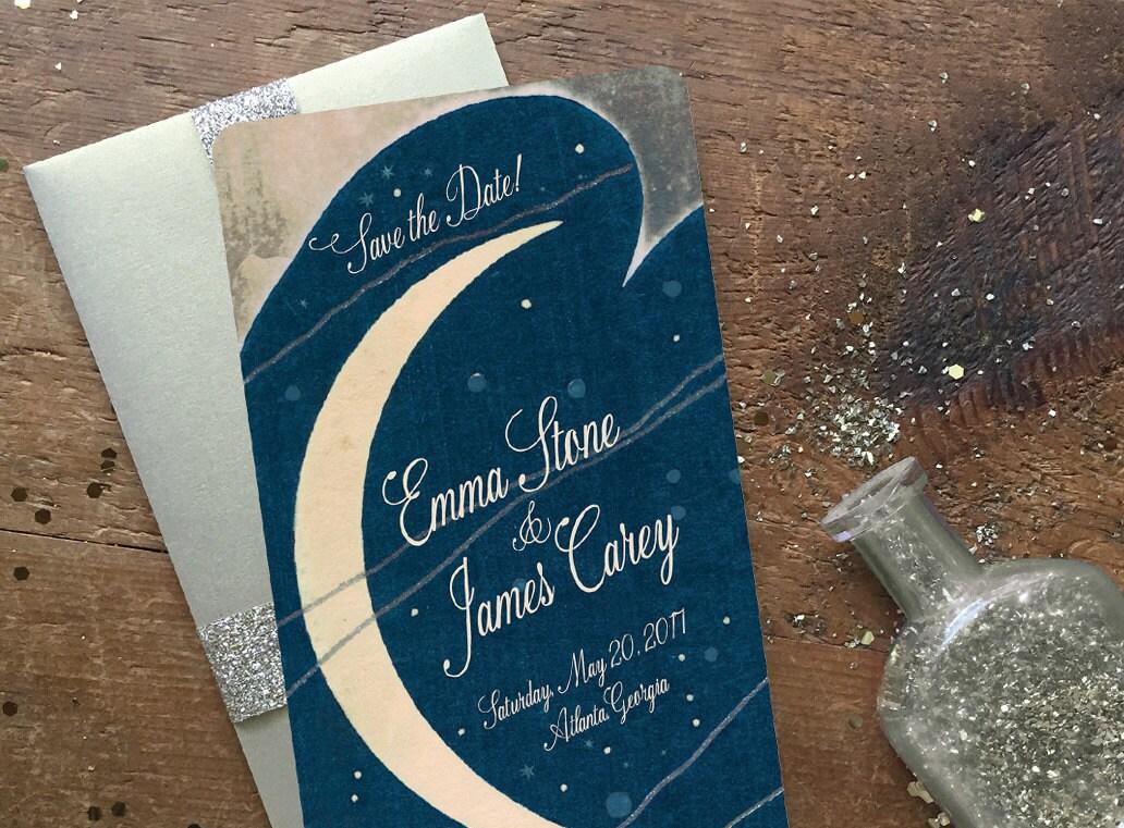 Save The Date Postcards Art Deco Wedding