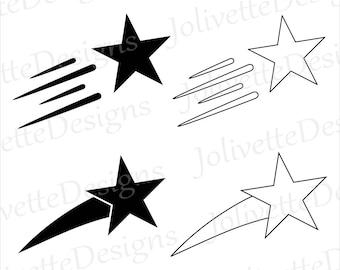 shooting star clip etsy rh etsy com shooting star clipart free shooting star clip art images