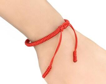 Lucky Handmade Tibetan Buddhist Knots Rope Bracelet  Infinity Charm Chain Bracelet