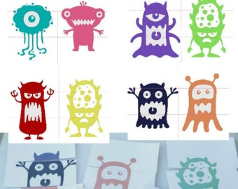 Pre-K Monster Mix and Match Printable Puzzles for Preschool or Toddler Busy Bags