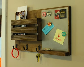 Magnet Board, Mail Organizer, Mail Holder, Rustic Organizer, Key Holder, Mail Organizer, Magnetic Board, Personalized Option Available