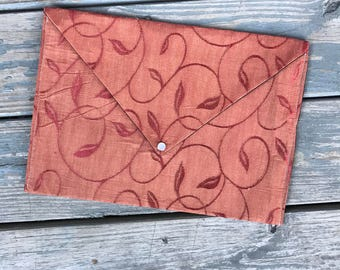 Womens Clutch | Womens Envelope Clutch | Envelope Clutch | Clutch | Leaf Print Envelope Clutch
