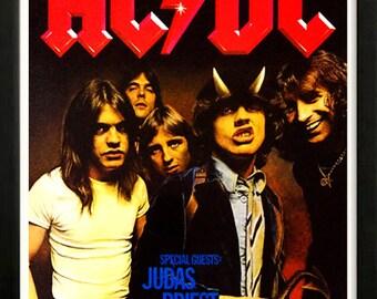 AC DC Rock Concert Poster Highest Quality Framing