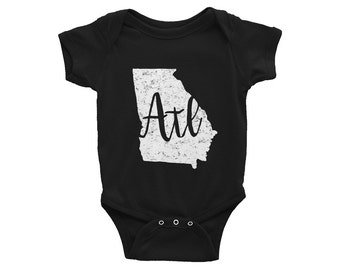 Atlanta One-Piece // Georgia Bodysuit // ATL  // Baby Shower Gift // Gender Neutral // Atlanta Baby Outfit // The Busy Bee