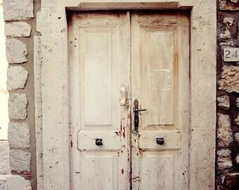 dubrovnik croatia door photography, white decor, distressed, rustic, europe art, architecture, building photography, Zudioska D20