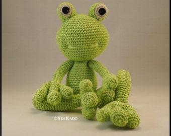 Frog crochet amigurumi Ydekado