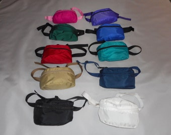 fanny pack assorted colors,waist bags 1 size fit's all durable made in U.S.A.