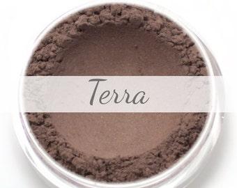 """Eyeshadow Sample - """"Terra"""" - deep brown with subtle shimmer (Vegan) Mineral Eyeshadow Pigment"""