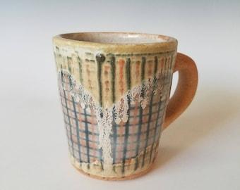 Orange stripe mug