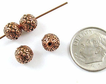 TierraCast Pewter Round Beads-COPPER CASBAH 7mm (4)