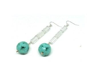 Vintage 1920s Celluloid Earrings | Art Deco Earrings | Drop Earrings | Glass Earrings | 1920s Earrings | Statement Earrings