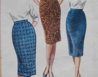 """1950s Skirt Pattern waist 31"""""""