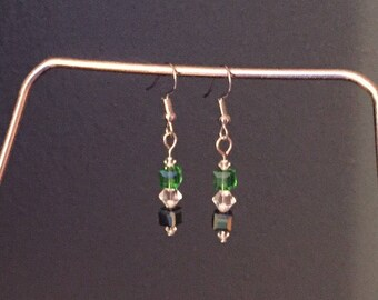 Green Swarovski Crystal earrings