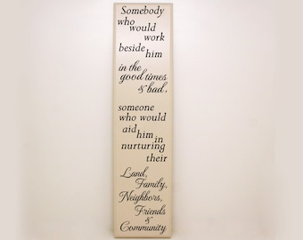 """Farmer's Wife Saying """"Somebody  who would work..."""" Gift for Farmers, Farming Quote, Farmers Wife Saying, Farming Decor, Farming Saying"""