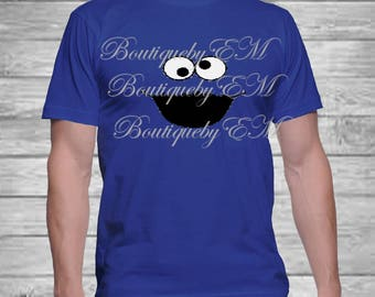 Cookie Monster Sesame Street inspired T-shirt, MORE CHARACTERS AVAILABLE!