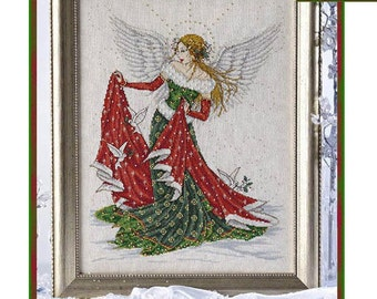 Christmas Angel Counted Cross Stitch Chart Pattern Joan Elliot Design JE040
