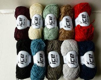 Yarn Sale  - Thin Chenille by Ice