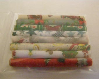8 rolls of paper vitirne miniature, Dollhouse miniature gift