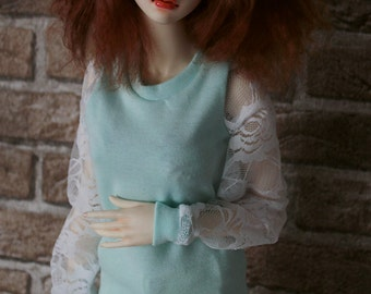 Lace sleeved top for MSD 1/4, SD 1/3 BJD