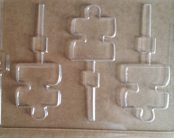 Puzzle Piece Lolipop Chocolate Candy Mold