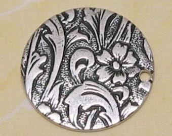 Geprägte Scheibe Charme, Antik Silber, 4 Stk. AS89