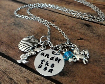 Little Mermaid Necklace-Under the sea necklace-little mermaid inspired-mermaid necklace