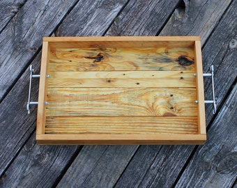Husband Gift, Wood Tray, Dad Gift, Man Cave Gift, Reclaimed Wood Tray, Man Cave Decor, Rustic Man Gift, Rustic Wood Tray