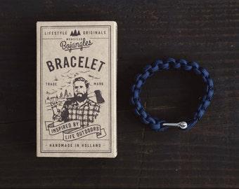 Handmade Paracord Lumberland Bracelet/Armband Mens/Womens Navy Blue