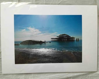 Vibrant print of Brighton's West Pier by Anna Stelforth