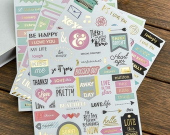 4 Pcs Scrapbooking  Stickers/ Card Maker